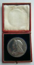 More details for 1897 victoria diamond jubilee large silver medallion 56mm  84.8 grams