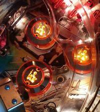 GOLDENEYE 007 CHROME PINBALL POP BUMPER DECALS from METAL-MODS CHROME CAPS