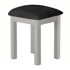 Padstow Painted Stool / Dressing Table Stool / Solid Wood With Seat Pad