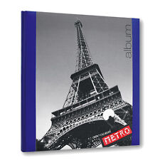 Paris Traditional Photo Album- 60 Interleaved Photoboard Pages - Travel Gift New