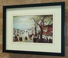 Winter Scene by Avercamp, 12''x16'' framed athena,  avercamp vintage print