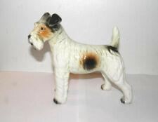 "Vtg Airedale Terrier Dog Figurine Large 6.5"" Tall Ceramic Porcelain Gloss Glaze"