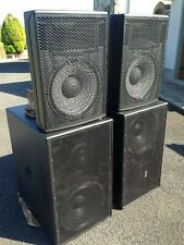 """EAW Double 15"""" Bass Bins FR250 and 15"""" Tops JFX560 Speakers"""