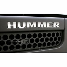 2006-2010 GMC HUMMER H3 Front Bumper Vinyl Stickers Chrome Letters Set Trim Kit