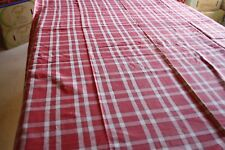 Service de table nappe 140 x 250 cm  + 12 serviettes en coton rouge basque