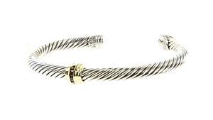 DAVID YURMAN Cable Classics Single-Station Bracelet Ruby & 14K Gold $750 NEW