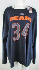 Chicago Bears NFL Womens Big & Tall VINTAGE 34 Walter Payton Long Sleeve T-shirt