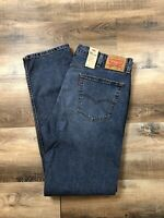 LEVI LEVI'S 505 Regular Straight Leg Premium Cotton Denim Jean Men's 38x34 Blue