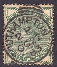 SG164 ½d Deep Green Central Southampton 1883 CDS - Surface printed QV GB
