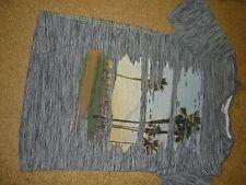grau meliertes T-Shirt Gr. 176 / S / 38 von S. Oliver großer UrlaubsFrontdruck
