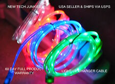 led light-up data charger power charge cable for iPhone X 7 6 4 5s micro usb B C