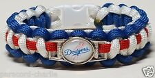 Los Angeles Dodgers Team Logo Emblem Red White Blue Handmade Paracord Bracelet