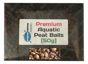 Premium Aquatic Peat Balls (Granule) for Lower PH Blackwater Discus etc [50g]