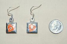 New, cute BRIGHTON orange HAVANA LOVE LETTERS custom earrings !  FREE SHIPPING !