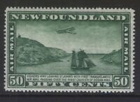 NEWFOUNDLAND C10v (NSSC AM11c) 1931 50c AIRMAIL 14.3x14.1 INVERT WK MNH CV$1000+