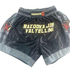"Kimurawear ""Bazooka Joe� Joseph Valtellini Mma Boxing Training Shorts Size M"