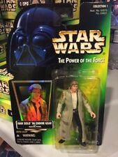 MOC Han Solo Endor Star Wars POTF2 Power Of Force 1997 With Holo .00 BLUE Pants