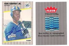2006 Fleer Tradition KEN GRIFFEY Jr RC AUTO Buyback 1989 Rookie Autograph SP UD