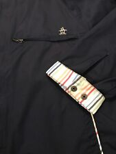 GUC GRANDSLAM PENGUIN Zip Front Navy Blue Golf Jacket Mens Large Windbreaker