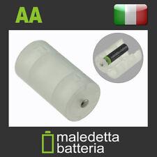 Adattatore per Pile trasforma Batteria AA Stilo a D Torcia