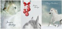 Horse Christmas Cards - Pack Of Nine Xmas