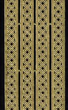 GOLD TRELLIS MEDIEVAL BORDER TRIM  PAPER DRESDEN GERMANY ORNAMENT PUTZ METALLIC