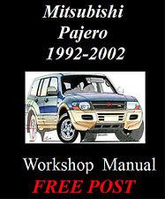 MITSUBISHI PAJERO 1992 - 2002 WORKSHOP SERVICE REPAIR MANUAL ON CD - THE BEST !!