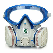 Full Face Respirator Gas Goggles For Painting Spraying Double Filter Breathing