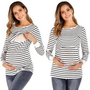 Maternity & Pregnancy Top Nursing Breastfeeding T-Shirt Clothing Size 8 10 12 14
