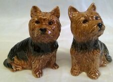 More details for quail yorkshire terrier yorkie dog salt & pepper pots condiment or cruet set