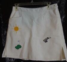 Tommy Hilfiger White Golf Skort Skirt Cotton Pique Pockets Whimsy Size 8