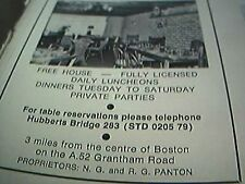 ephemera lincolnshire 1975 advert four cross roads restaurant boston