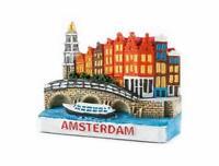 Amsterdam Holland Poly Magnet Grachten Brücke Niederlande Souvenir