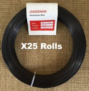 X25 Rolls Of 500g Aluminium Bonsai Wire (ALL SIZES AVAILABLE)