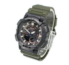 -Casio AEQ110W-3A Analog Digital Watch Brand New & 100% Authentic