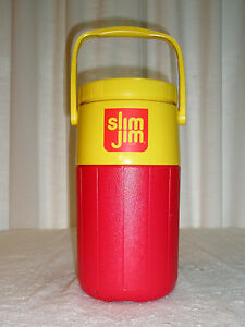 Vintage COLEMAN 1/2 Gal Thermos Advertising Slim JIm Car & Driver