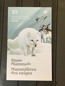 Canada post 2021 MNH Stamp SS Snow mammals fauna flora rabbit - fox booklet