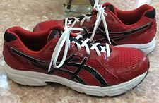 ASICS Gel-Contend 2 Men's Red Black White Running Training Shoes Size 13 T426Q