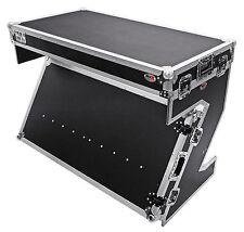 ProX XS-ZTABLE Portable Z-Style DJ Table Flight Case w/Handles+Wheels