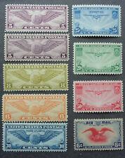 US Stamps Mint OG NH Scott C12 C16 C17 C19 C20 C21 C22 C23 C24 Nice F-VF Set