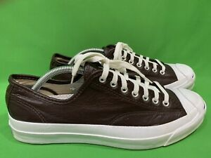 Converse Jack Purcell Brown Leather Men's Sz 9.5