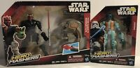 2 Hasbro Star Wars: Hero Mashers Sith Speeder/Darth Maul & Greedo Action Figures