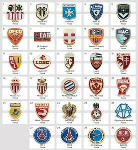 Badge Pin: French football clubs France pins