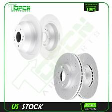 Front Rear Brake Discs Rotors For Kia Sorento 2011 2012 2013 Drill and Slot