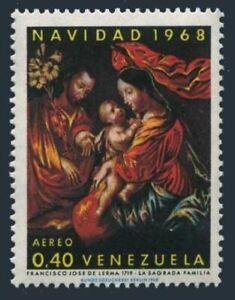 Venezuela C998 block/4,MNH. Christmas 1968.Holy Family,Francisco Jose de Lerma.