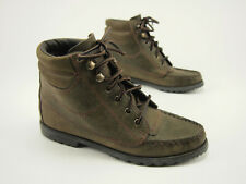 1990s G.H. BASS Vintage Olive Leather Lace-up Hiker Flat Boots 6 - 6.5