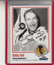2002-03 FLEER GREATS OF THE GAME THROWBACKS BOBBY HULL  AUTOGRAPH AUTO