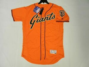 AUTHENTIC 52 2XL, SAN FRANCISCO GIANTS MAJESTIC FLEX BASE JERSEY MADE IN THE USA