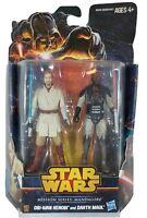 New Star Wars Hasbro OBI-WAN KENOBI & DARTH MAUL Action Figures Mandalore 2013