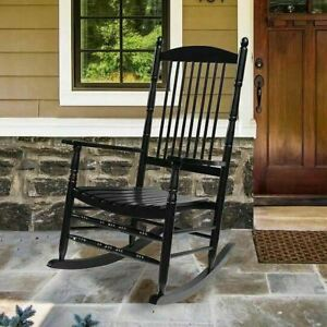 ORNO TTOBE Indoor/Patio/Porch Solid Wood Adult Rocker/Rocking Chair Comfortable